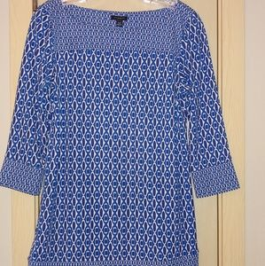 Ann Taylor extra small print top